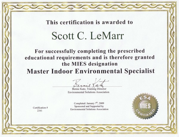MIES Certificate