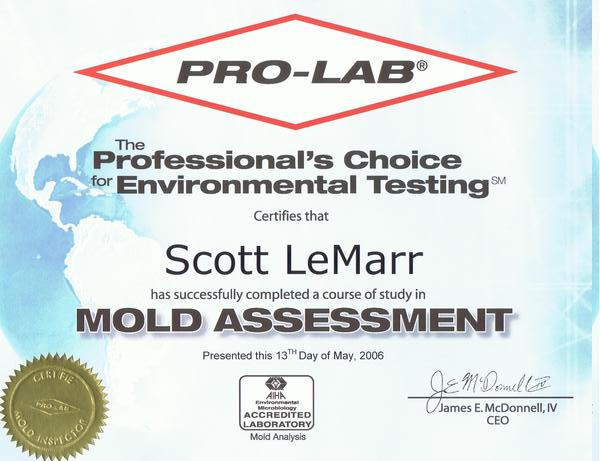 Pro-Lab Mold Assessment
